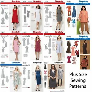 Simplicity-Sewing-Patterns-Women-039-s-Plus-Large-Size-Clothing-Amazing-Fit-Dresses