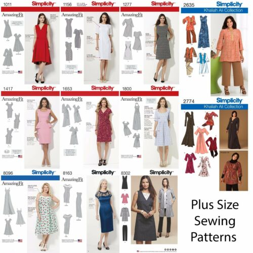 Simplicity Sewing Patterns Women/'s Plus Large Size Clothing Amazing Fit Dresses