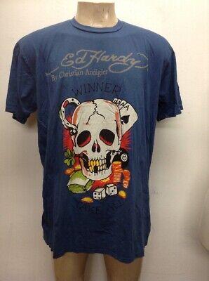 wholesale outlet new selection 100% original Don Ed hardy christian audigier t shirt skull floral new sz 2XL men's nwt  blue | eBay
