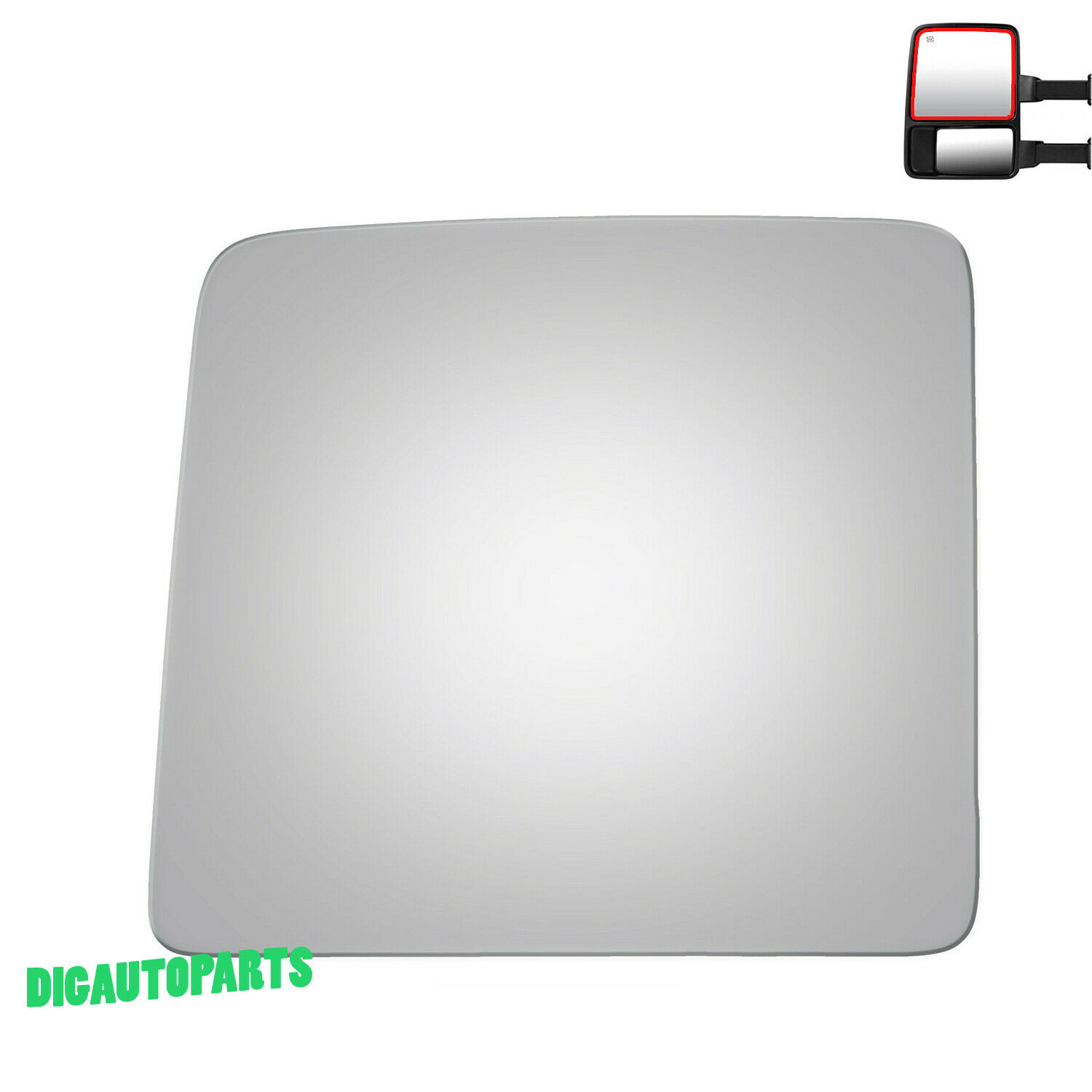 Upper Towing Mirror Glass for 08-16 Ford F250 F350 F450 Super Duty Left Side LH