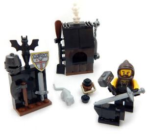NEW-LEGO-BLACKSMITH-SHOP-SET-castle-peasant-minifig-lot-medieval-market-village
