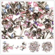 400x Pearl Head Split Pins Brads Paper Fasteners Scrapbooking Embellishment