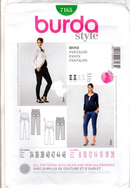 313aa6b16ed5d Burda Sewing Pattern 7165 Misses Maternity Pants Size 8-20 for sale ...