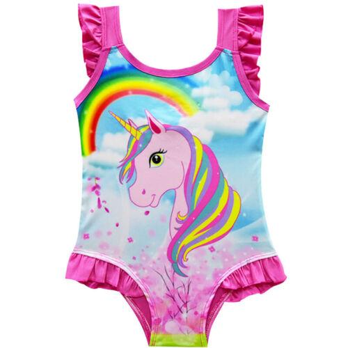 Unicorn Styles Girls Swimming Costume 2-10Y Swimwear Bikini Bathing Swimsuit Lot