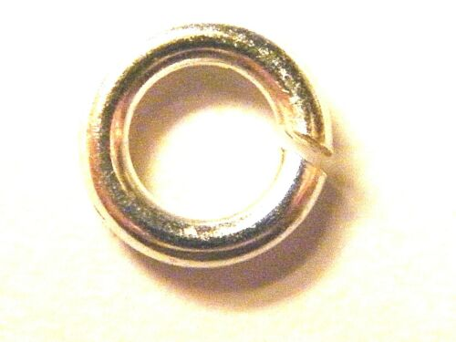 .925 7mm Strong Sterling Silver Jump Ring Extra Heavy 1.5mm Wire //15 Gauge