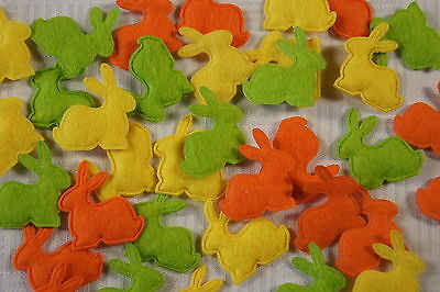 Hase Filz Streuartikel Tischdekoration Tischdeko Ostern orange gelb hell grün