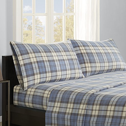 True North by Sleep Philosophy Micro Fleece Queen Bed Sheets Set, Casual Ultra &