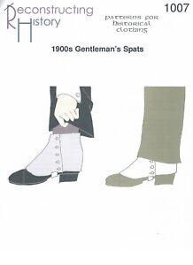 Schnittmuster-RH-1007-Paper-Pattern-1900s-Gentlemen-039-s-Spats