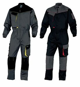 Delta Plus Mens Work Overalls Boiler Suit Coverall Mechanics (DMCOM)