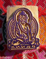 Rare Hand-carved Solid Wood Tibetan Buddhist Buddha Rubber Stamp Art Nepal