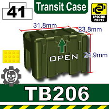 Tank Green TB206 (W239) Transit Case compatible with toy brick minifigures