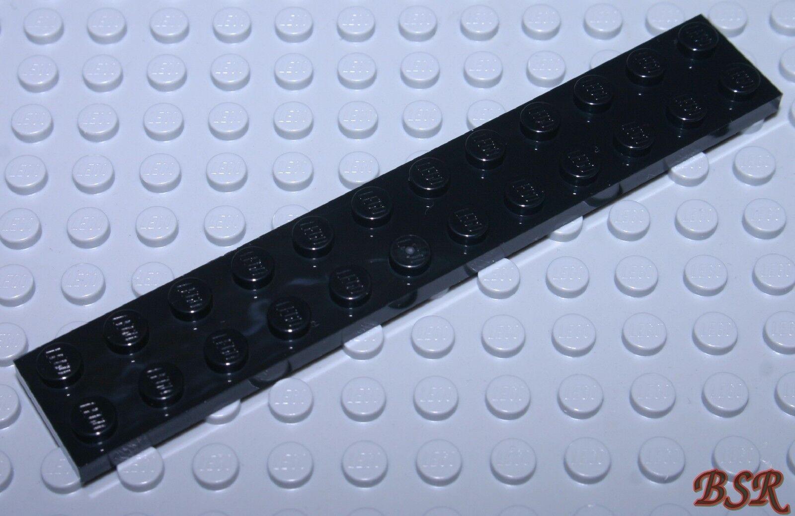 LEGO 2 x flache Platte 2445 dunkelrot 2x12