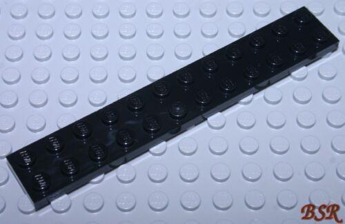 2 Stück schwarze 1//3 Steine 2x12 Platte Plättchen Platten 2445 /& NEU ! ED96