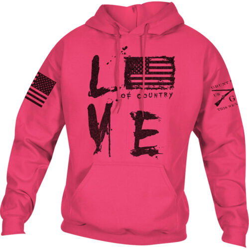 Grunt Style Love of Country Pullover Sweat à capuche-Rose