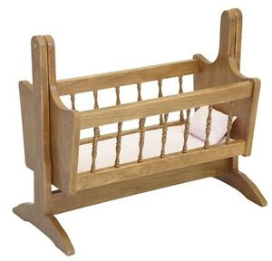 Details About 18 Doll Cradle Swinging Bed Swing Amish Handmade Fine Furniture Bitty Baby Usa