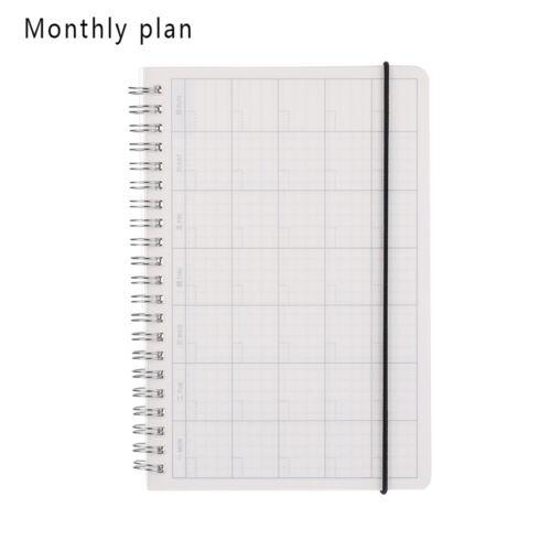 Wöchentliches Notizbuch Tägliches Spiral Book Leeres Notizbuch Buch der Planer