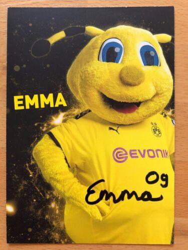 Maskottchen Emma AK Borussia Dortmund Autogrammkarte 2019-20 handsigniert