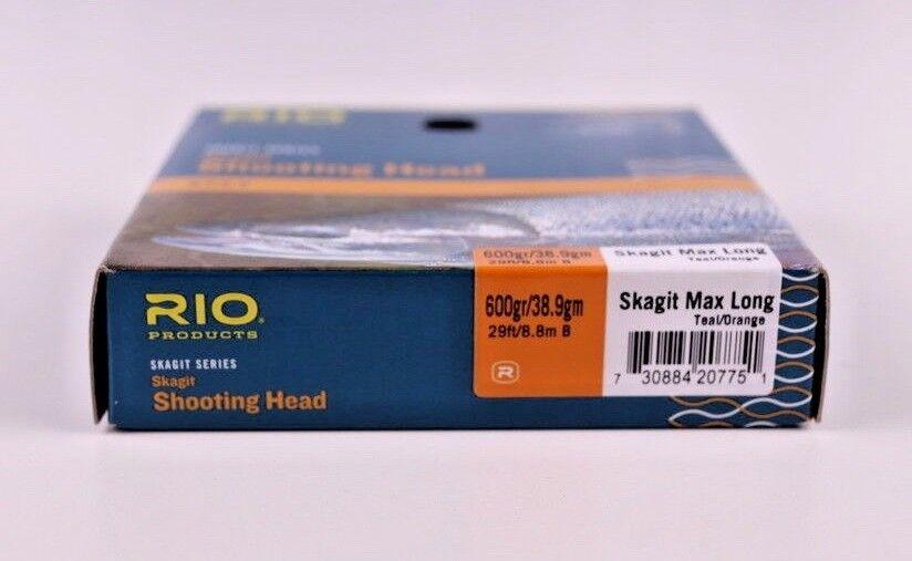 Rio Skagit Max Long 600 Grain Free Shooting Head Free Grain Fast Shipping 6-20775 106559