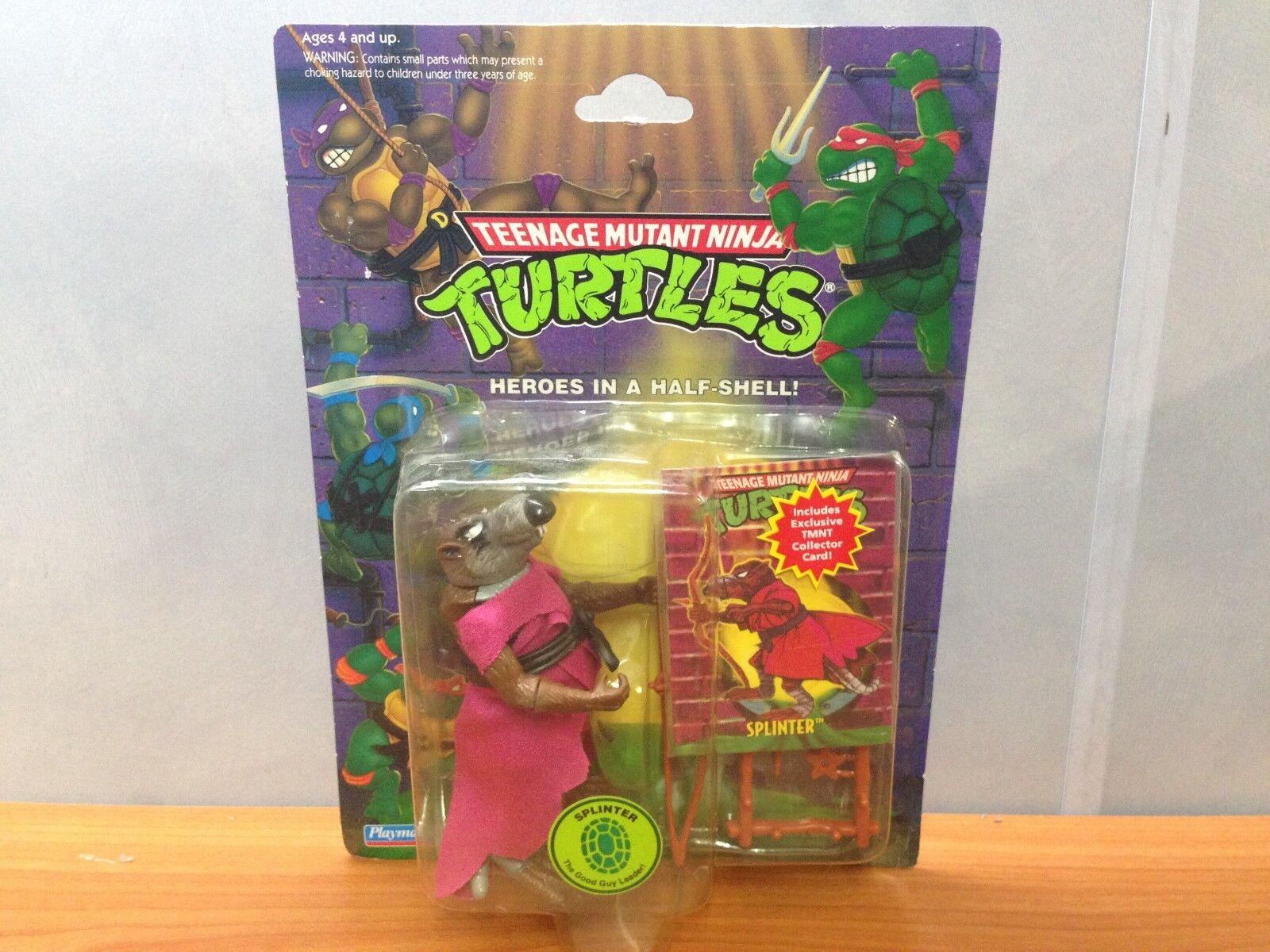 Original Vintage 1989 TMNT Action Figure - Splinter - MOSC