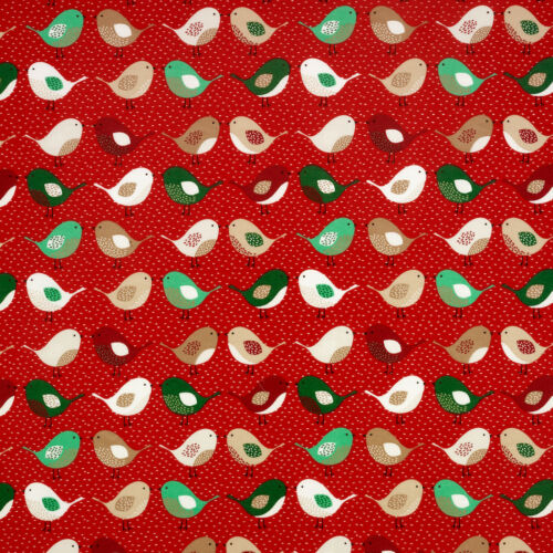 Christmas Xmas Wipe Clean Cotton Oilcloth Tablecloth 134cm wide x 200cm