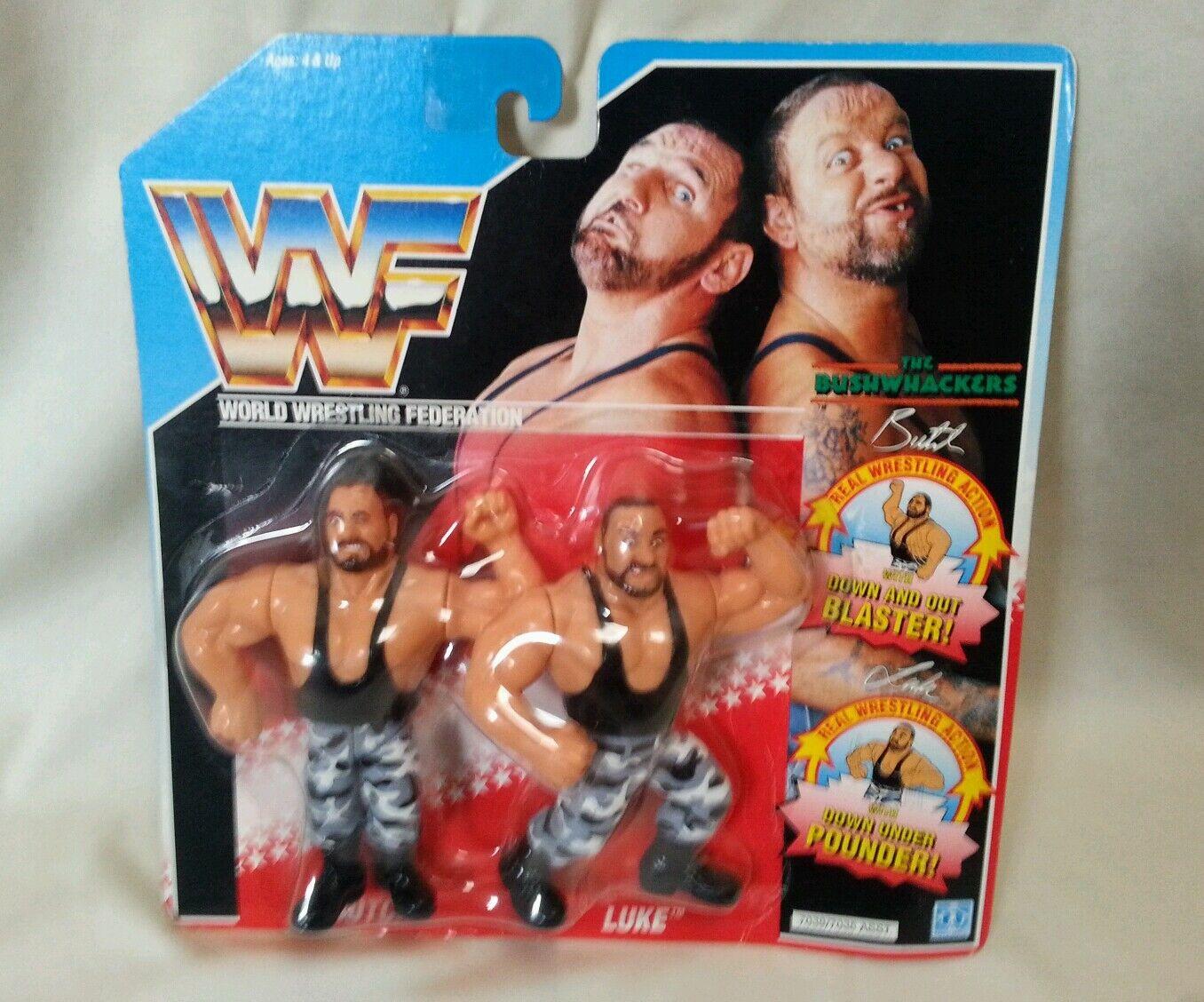 WWF - Wrestler Tag Team Bushwhakers Series 2 Hasbro Unopened Figure 1990 WWE WWF