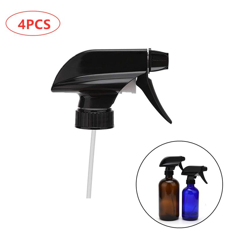 4pcs Spray Bottle Trigger Nozzle Replacement Plastic Sprayer Head Leakproof