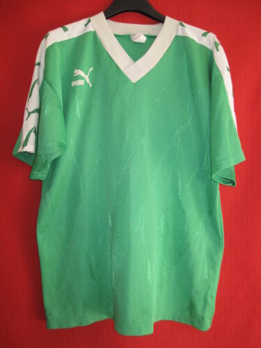 Vintage Swimsuit Puma green colour ASSE SaintEtienne Worn No. 4 L