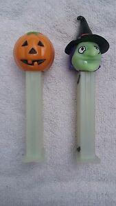 HALLOWEEN-PEZ-Dispensers-Pumpkin-and-Witch
