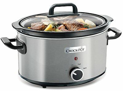 220-230 Volt 50Hz Crock-Pot CSC031 Slow cooker 5.7L Hinged Lid OVERSEAS USE Only