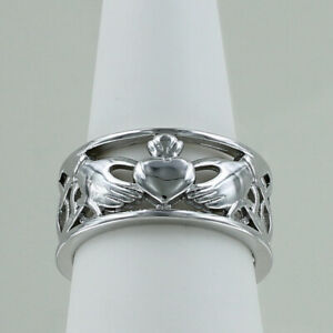 Men/'s Jewelry Stainless Steel Ring Claddagh Heart Crown Wedding Band Celtic Knot