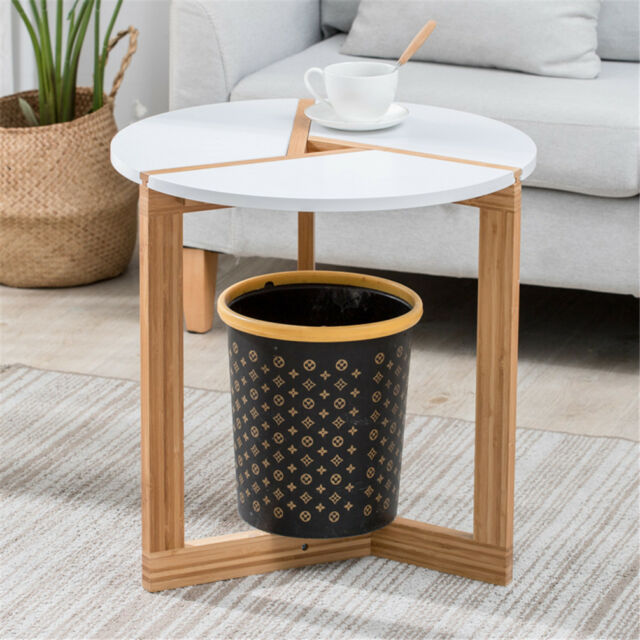 White Wood 3 Legged Small Modern Coffee Side Table Living Room Lamp Table