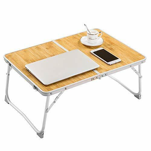 Details about  /Foldable Laptop Table Superjare Bed Desk Breakfast Serving Bed Tray Portable ...