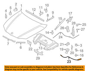 BMW-OEM-2006-330i-Hood-Latch-Lock-Release-Cable-51237060552