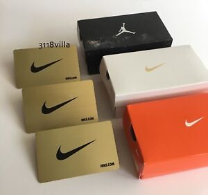 Details About Nike Limited Edition Metal Gift Card Mini Shoe Box 0 Value