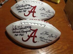 Jackie Sherrill and Steve Sloan Alabama Crimson Tide Signed Football