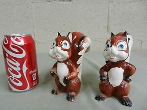 VINTAGE-SQUIRREL-LARGE-SALT-AND-PEPPER-SHAKER-SET-COLLECTIBLE-FREE-SHIPPING