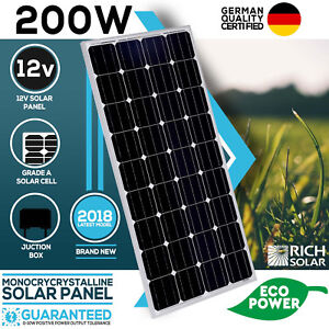 200W-Solar-Panel-Mono-12V-Single-Power-Kit-Camping-Power-Battery-Charge-Caravan