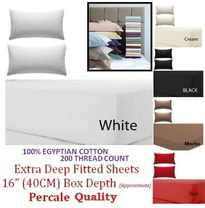 100-EGY-COTTON-200TC-EXTRA-DEEP-FITTED-SHEET-SINGLE-4FT-DOUBLE-KING-SUPER-KING