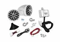 Pyle Plmca30 Motorcycle Mount Amplified 200-watt Stereo Sound S... Free Shipping