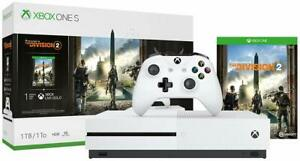 Brand-New-Microsoft-Xbox-One-S-1TB-Console-Tom-Clancy-039-s-The-Division-2-Bundle