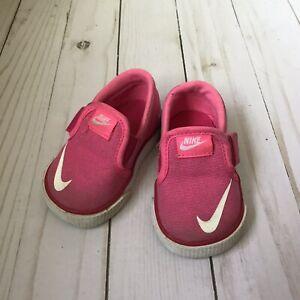 Nike Toki Pink Girls Toddler Shoes - Size 2C - Slip On ...
