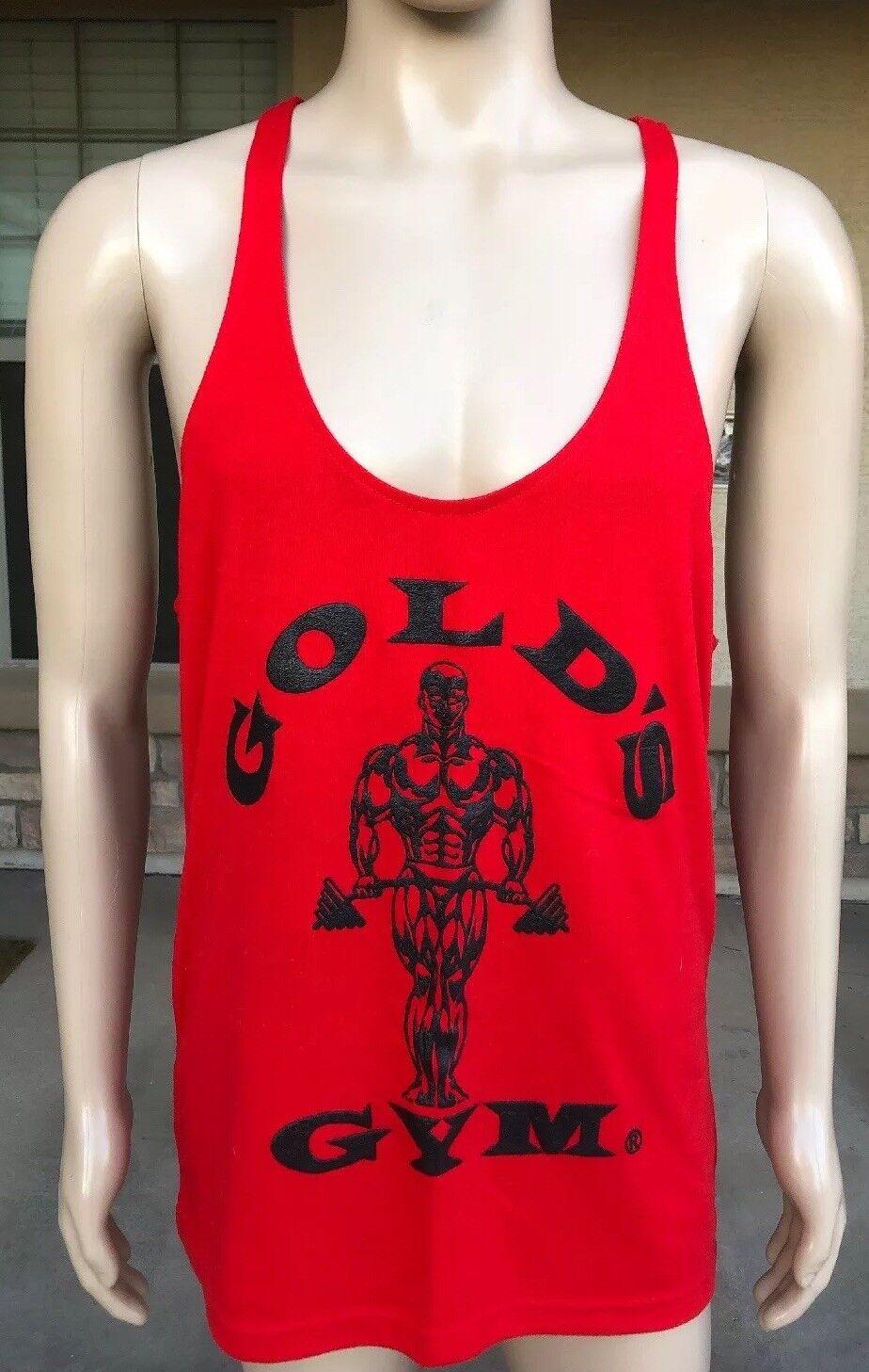 NWOT Vintage gold's Gym Arnold blackenegger Muscle Bodybuilding Tank Top Large