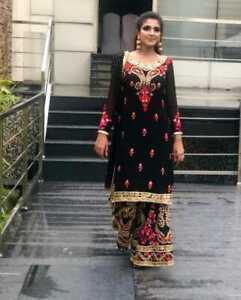PUNJABI SHARARA PLAZZO SUIT INDIAN WOMEN SALWAR KAMEEZ KURTI READYMADE PAKISTANI
