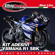 Kit Adesivi Stikers YAMAHA R1 YZF SBK 2009-2014 YEC  BEN SPIES TOP QUALITY !!