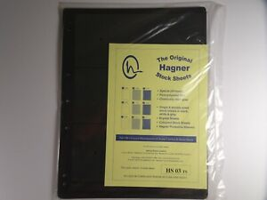 Hagner-Stock-Sheets-Single-Sided-3-Strip-Packet-of-10-Pages