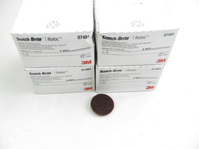 100 Pcs - 3M 07481 Scotch-Brite Roloc Surface Conditioning Disc, 2