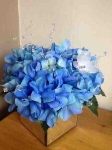 Artificial silk flower arrangement large blue hydrangea in deluxe image is loading artificial silk flower arrangement large blue hydrangea in mightylinksfo