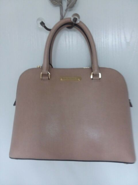 a95f34ee654f Michael Kors Cindy Dome Satchel BLUSH PURSE Leather LARGE Beige NWT $298