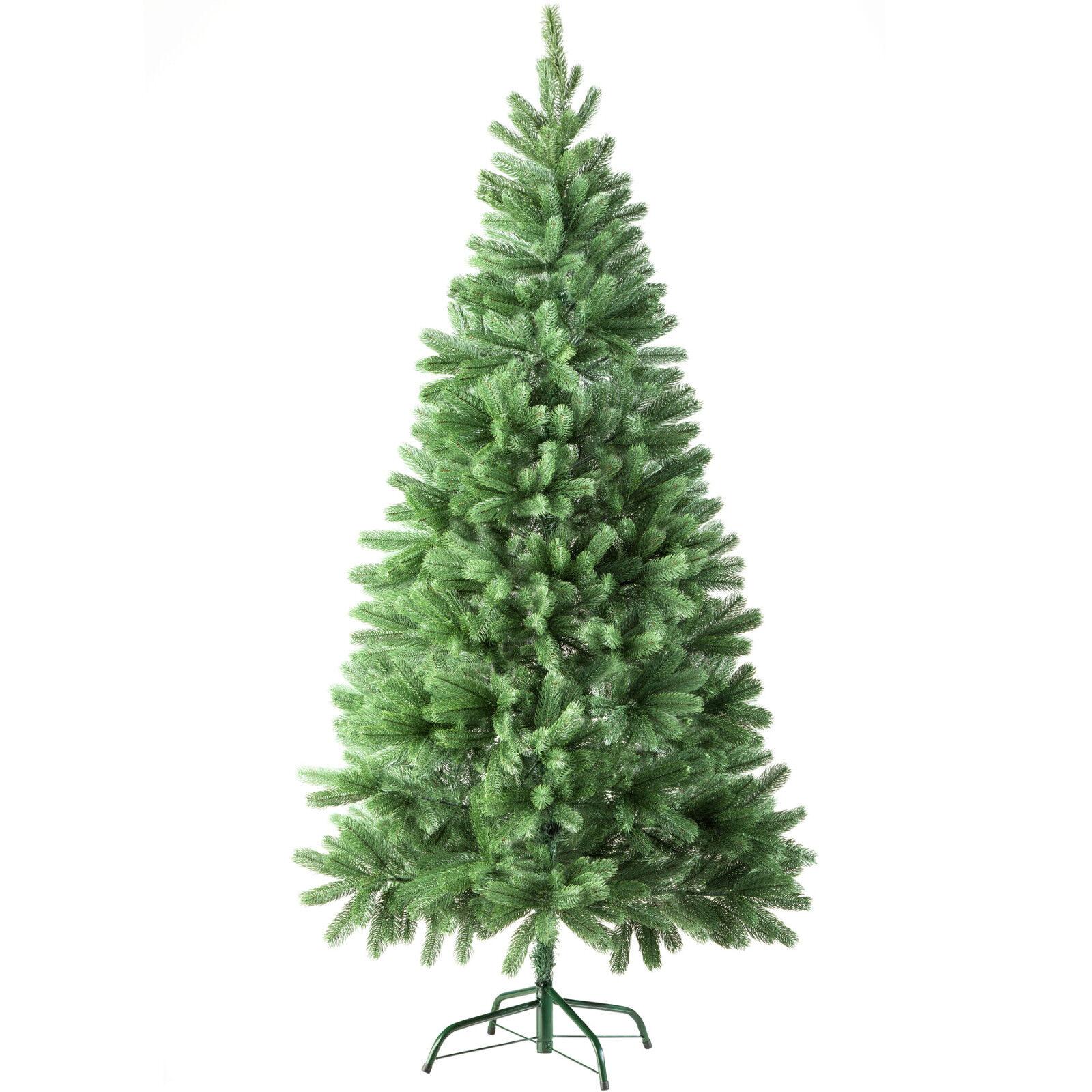 Sapin de Noël Arbre de Noel Artificiel 742 Branches + Pied En Métal 180cm Grün