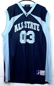 All-State-03-Basketball-Jersey-XL-Delf-USA-Slam-Dunk-Sportswear-Navy-Blue